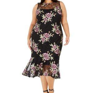 Calvin Klein plus size lace midi dress 16W NWT$169